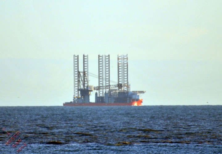Not sure what this was. Possibly part of a mobile oil rig. You can see the full size of this in the photo below