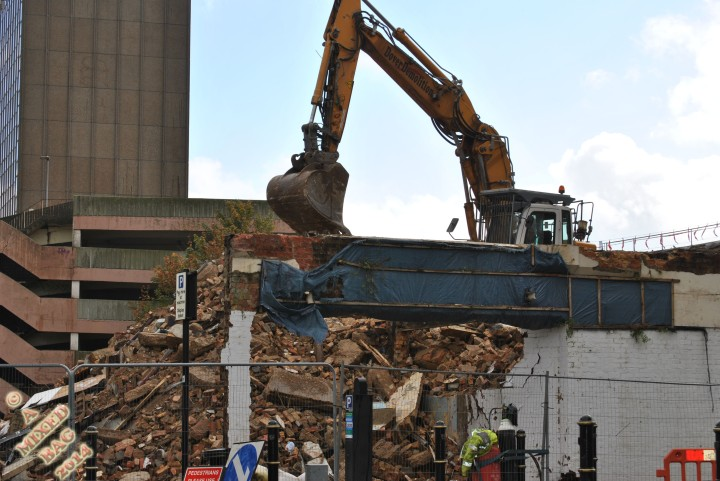 Demolition of an old building.
