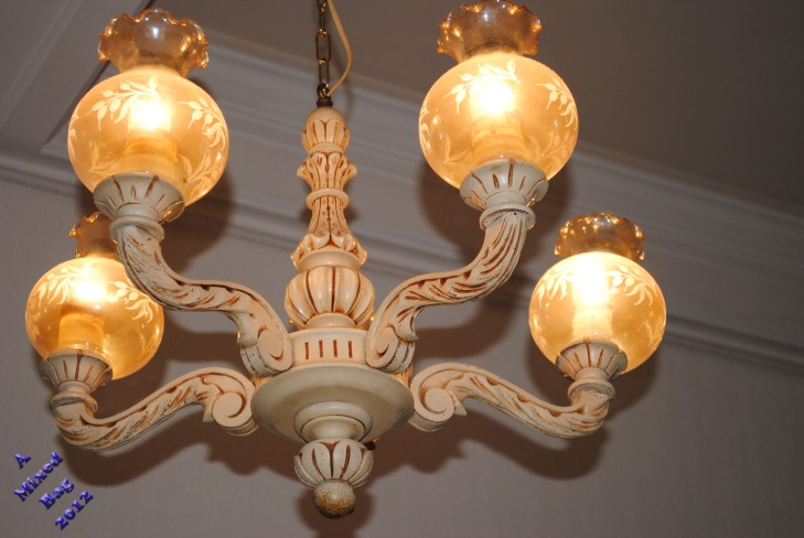 One of the several chandeliers in my apartment.
