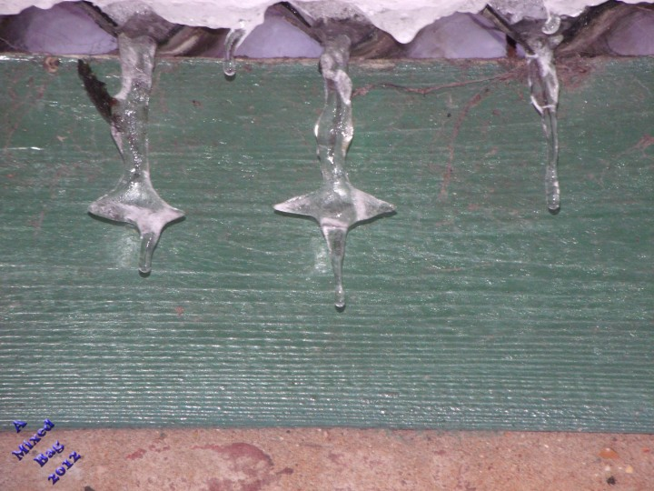 Weird shaped icicles