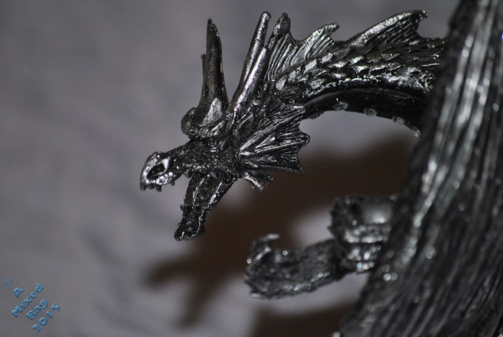 Pewter dragon ornament
