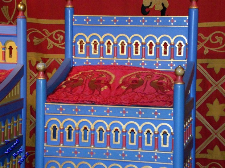 Henry VIII's throne, Dover Castle, UK
