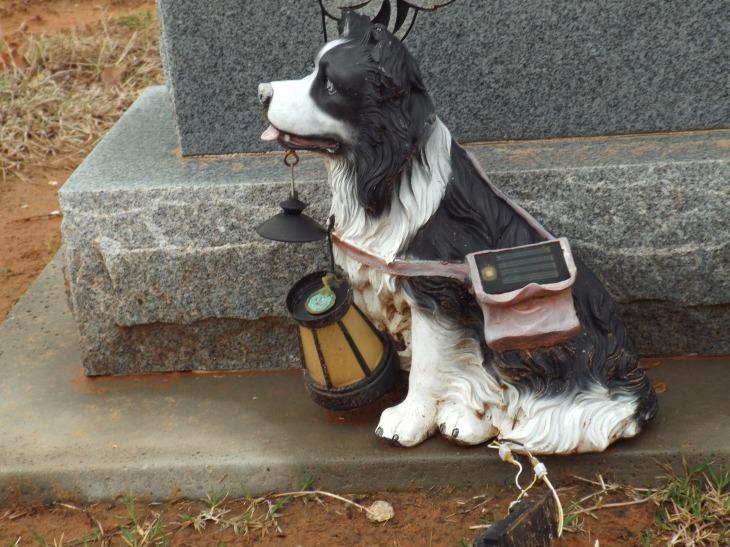 Dog & Grave Headstone